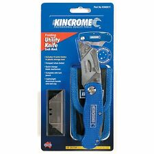 Kincrome Folding Lock Back Utility Knife -10 extra blade in plastic storage case