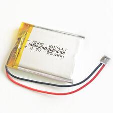 3.7V 900mAh Li po Battery for Psp Mp3 Mp4 Gps Speaker 603443 Jst 1.5mm Connector