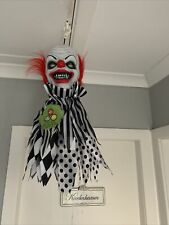 BN Halloween Animated Hanging Spinning Light Up Musical Circus Clown Head Last 1