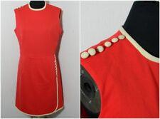 VTG 50s 60s Retro Union Made Coral Sheath Dress Ladies Garmen Workers ILGWU