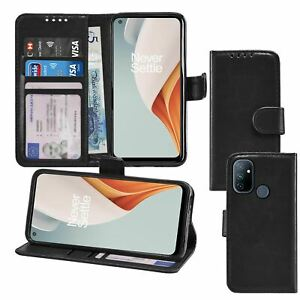 Photo ID Wallet Flip Folio Leather Phone Case Cover for OnePlus Nord N100