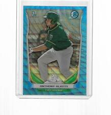2014 BOWMAN CHROME PROSPECTS BLUE WAVE REFRACTOR ANTHONY ALIOTTI #BCP77