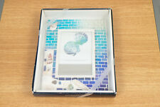 Sonoma Lifestyle 4X6 Shell Picture Frame - Blue Tile Design - Vacation Beach