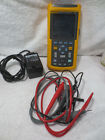 Fluke 123 Industrial ScopeMeter Kit Case Charger Leads all in great condition