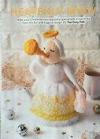 KNITTING PATTERN Christmas Angel Tea Cosy Decoration Trumpet Lantern Sirdar