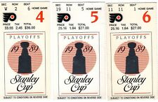 MARIO LEMIEUX 1989 1ST EVER STANLEY CUP YEAR PITTSBURGH PENGUINS STUB - PICK ONE