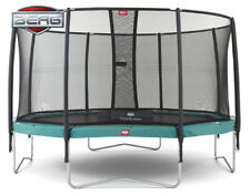 Berg Champion 14ft Trampoline with Deluxe Safety Net & TwinSpring Gold springs
