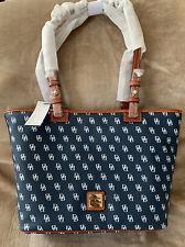 Dooney & Bourke Gretta Small Leisure Shopper Getaway Tote Bag - Navy White NWT