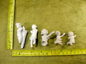 5 x excavated vintage damaged angel doll parts age 1890 mixed media B 861