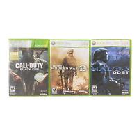 Xbox 360 Game Bundle Lot Call of Duty Black Ops Modern Warfare 2 Halo 3 ODST