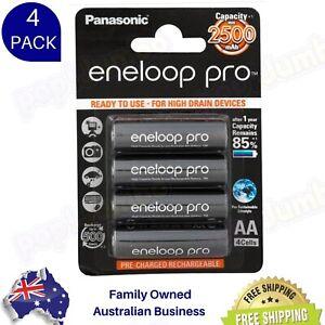 Panasonic Eneloop Pro AA NiMH 2500mAh Rechargeable Batteries x 4