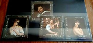 1977 Poland Full Set Of 4 Stamps - Painting by Rubens - MNH