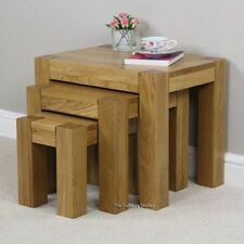 Less than 60cm Height Solid Wood Unbranded Nested Tables