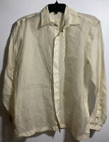 BARONG TAGALOG MEN'S LONG SLEEVE BUTTON FRONT SHIRT SIZE SMALL