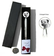 Border Terrier Dog Chrome Plated Letter Opener Boxed with Gift Tag