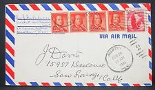 US Airmail Envelope Austin Franklin Dual Franked Pair MiF USA Lupo Brief (Y-450