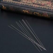 10x Big Eye Curved Beading Needles Threading String Cord Jewelry Tool 0.6x 100mm
