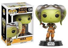 """Star Wars Rebeldes Hera 3.75"""" POP Vinilo Figura Funko 136 totalmente nuevo vendedor de Reino Unido"""