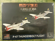 FLAMES OF WAR AMERICAN P-47 THUNDERBOLT FLIGHT - NEW AND SEALED
