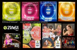 Zumba Fitness Incredible Results System 4 DVD+2 CDs w Music FAST FUN WEIGHT LOSS