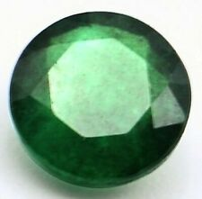 EMERALD ROUND CUT DEEP GREEN PAKISTAN 10mm 4 CT NATURAL GEM GENUINE FACETED NICE