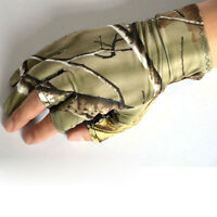Camouflage Sport Half Finger Gloves Cycling Elastic for Fishing Shooting Hunting