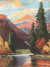 Autumn Colors Mountains Stream, by Atkinson Fox