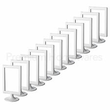"12x IKEA TOLSBY Double-Sided White Gloss Plastic Picture Frames (10x15cm/4x6"")"