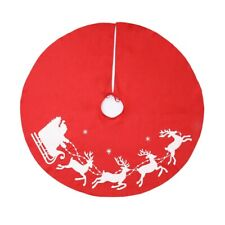100cm Large Christmas Tree Skirt Red Home Xmas Floor Ornament Party Decor