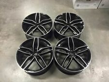 "19"" New Audi RS6 C Style Alloy Wheels - Gloss Black Machined - Audi A4 A6 A8"