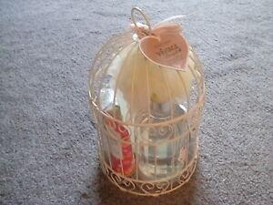 Vintage Bouquet  Birdcage Gift Set Cage A Oiseau