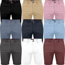 Mens Slim Fit Stretch Chino Shorts Summer Casual Cotton Smart Spandex Bottoms