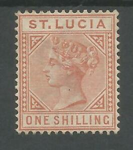 ST LUCIA  SG36 THE 1883-6 QV 1/- ORANGE BROWN DIE 1 FRESH MINT CAT £400
