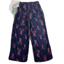 MLB Boston Red Sox Baseball Team Logo Pajama Pants Kids Boys Size XS 4/5