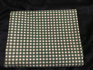FAB! Vintage Unused Ralph Lauren Medium Gingham Forest Green Full Flat Sheet USA