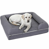 Dog Bed Memory Foam Waterproof Liner Breathable Skin Contact Safe Sleep Soundly
