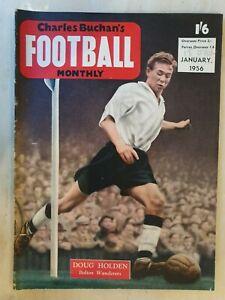 FOOTBALL MONTHLY MAGAZINE DOUG HOLDEN - JANUARY 1956
