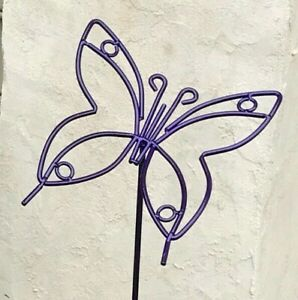 Wrought Iron Garden Butterfly Outdoor Metal Yard Art Decor Lawn Ornament Amish