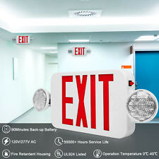 Led Emergency Exit Sign Light With Dual Lighting Back Up Battery Ul924 Listed