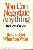 You Can Negotiate Anything by Cohen, Herb Hardback Book The Fast Free Shipping
