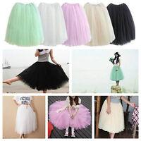 Vintage Punk 40's 50's Rockabilly Long Tutu Petticoat Ballet Dance Tulle Skirt