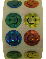 """400 Happy Face Stickers in a roll of 100 modules (2"""" x 2""""), each sticker 7/8"""""""