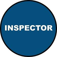Hard Hat Inspector Sticker Sign Decal Public Safety 50mm WHS OHS