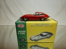 ATLAS CLASSIC SPORTS CARS JAGUAR E-TYPE - RED 1:43 - EXCELLENT IN BOX