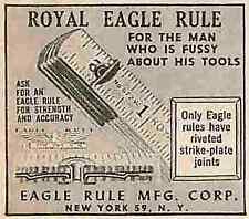 "Royal Eagle Rule New York NY Vintage  2"" to 3"" Magazine Print Ad 0076"