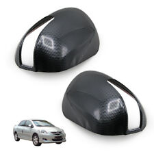 Carbon Black Wing Side Mirror Cover For Toyota Vios Coroilla Altis Camry 03 11