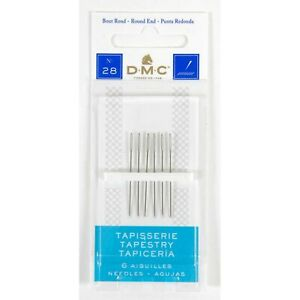 SIZE 28 DMC TAPESTRY NEEDLES PACK OF SIX 1767/9 FREE UK POSTAGE AND PACKAGING
