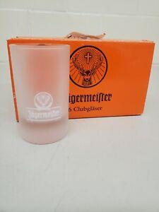 Set of 6 Jagermeister Frosted Shot Glasses Stag Deer Logo
