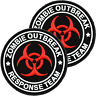 2x Zombie Outbreak Response Team PVC Morale Patch 3D Badge Hook #13 Airsoft