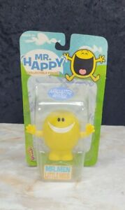 Mr. Happy Toy Collectible Figure Articulated Arms Mr. Men Little Vintage NIP